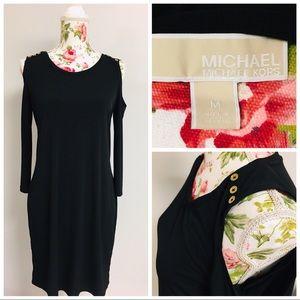 Michael Kors Black Peek a Boo Dress